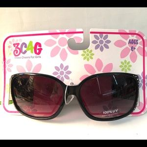 GIRLS SUNGLASSES with FAUX BLING AND ZEBRA PRINT